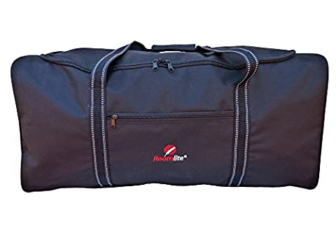 XL Large Extra Very Big Holdalls - Luggage Size Travel Holdall - 100 Litre Black Luggage Duffle Bag - 1 Huge Space - Folds Flat for Storage, Travel or Laundry - 74cm X 38 X 36 0.9kg -