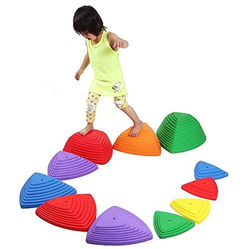 CX TECH Balance-Trittsteine für Kinder für Kleinkinder Gymnastik für Kinder Balance-Blöcke für drinnen und draußen fördern die Koordination, das Gleichgewicht und die rutschfeste Kante