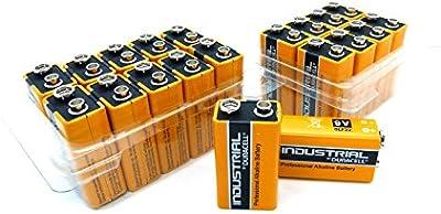 Duracell OEM 9V Bloque de la Industria Ware batería MN16046LR61Alkaline 9V, 10unidades)