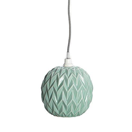 Lámpara colgante Pantalla + cable en cerámica Verde menta