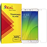 Real Oppo F3 Tempered Glass 2.5d Full Screen Full Glue Screen Protector Guard Anti Fingerprint Perfect Clarity By Real