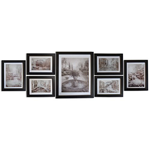 Giftgarden Multi Photo Picture Frame for Wall Set of 7 Pieces, one ...