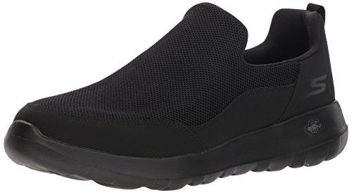 Skechers Go Walk MAX-Privy, Zapatillas sin Cordones para Hombre, Negro (Black BBK), 44.5 EU
