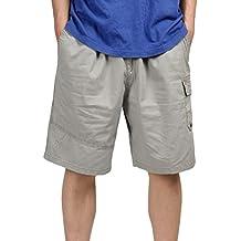 Heheja Herren Cargo Shorts Knielang Männer Vintage Kurze Hose Baumwolle  Bermuda 66409044a5