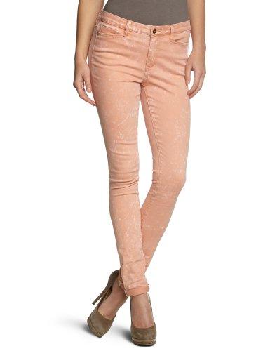 Vero Moda - Wonder NW Fold Up - Jean - slim - De couleur - Femme Orange (Papaya Punch)