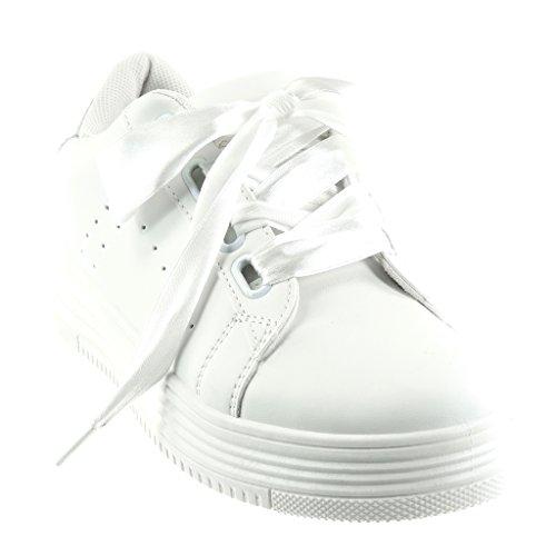 Sneakers da cerimonia bianche con stringhe per donna q88K4bbwq
