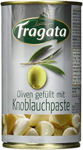 Fragata Spanische Oliven grün, mit Knoblauch, 6er Pack (6 x 150 g)