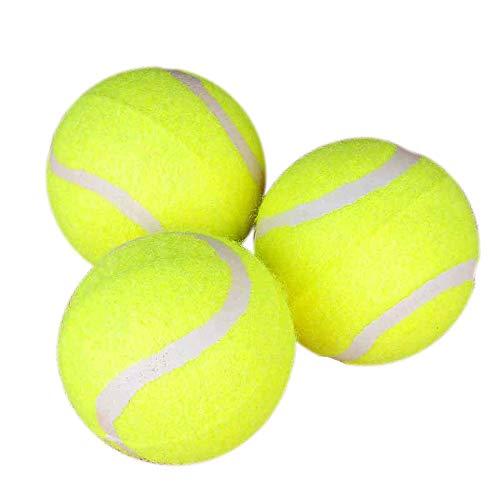 Ogquaton Balles de Tennis pour Animaux de Compagnie, Jouets pour Chiens de Compagnie et de sécurité pour l'exercice et l'entraînement, Lot de 3, Jaune