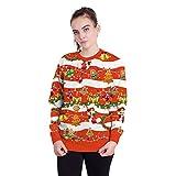 Unsiex Hässliche Weihnachts-Pullover Sweatshirts Weihnachtskugel Glocke 3D Drucken Neuheit Xmas Elf Lange Ärmel Tshirt Hip Hop Paar S-XL,S