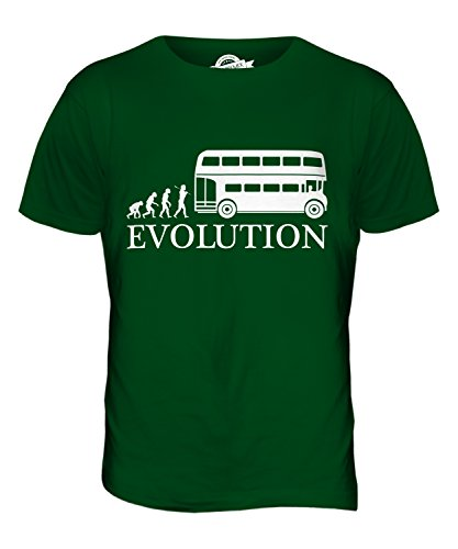 CandyMix Omnibus Bus Evolution Des Menschen Herren T Shirt Flaschengrün