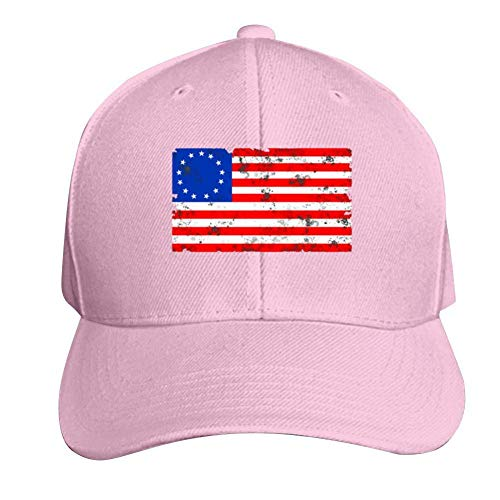 AbbyLexi Baseball Cap Worn 1776 Betsy Ross Flag Adjustable Trucker Hat Dad Hat Pink -