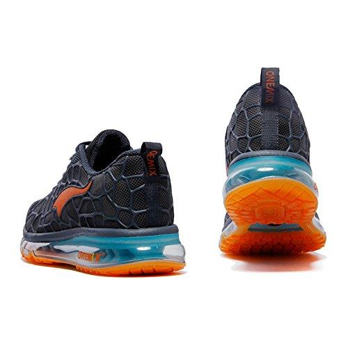 Respirante adulte Air Jogging Mixte Chaussures Sports Bleu Femme Orange fitness Sneakers Homme Onemix xqT0wIBE