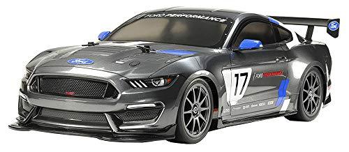 TAMIYA 58664 58664-1:10 RC Ford Mustang GT4 TT-02, ferngesteuertes Auto/Fahrzeug, Modellbau, Bausatz, Hobby, Zusammenbauen, grau