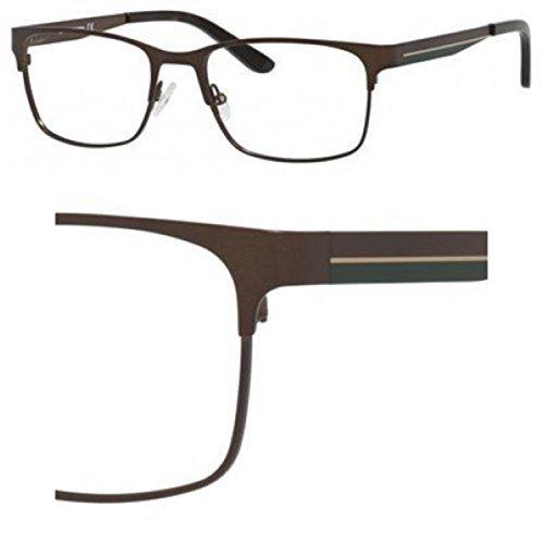 Liz Claiborne Metal Rectangular Eyeglasses 55 0TVL Matte Brown