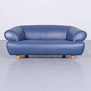 Amazon.de: de Sede DS 91 Designer Sofa Leder Blau ...