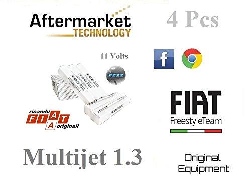 FIAT 46796050 4 Candelette FIAT GRANDE PUNTO 199 1.3 Multijet 51-55-56-66 Kw