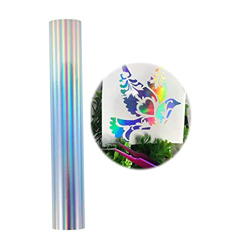 Lámina vinilo holográfica cromada manualidades 30,5