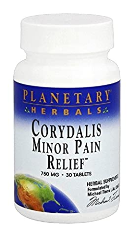 Planetary Herbals - Corydalis Minor Pain Relief 750 mg. - 30 Tablets