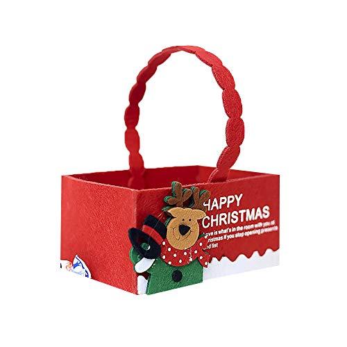 Gaddrt Süßigkeiten Verpackung Weihnachten Stoff Candy Aufbewahrungsbox kreative Flanell Aufbewahrungsbox Mini Geschenkbox (C)