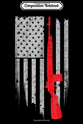 Composition Notebook: M4 AR15 Assault Rifle Gun US American Flag 4th July  Journal/Notebook Blank Lined Ruled 6x9 100 Pages