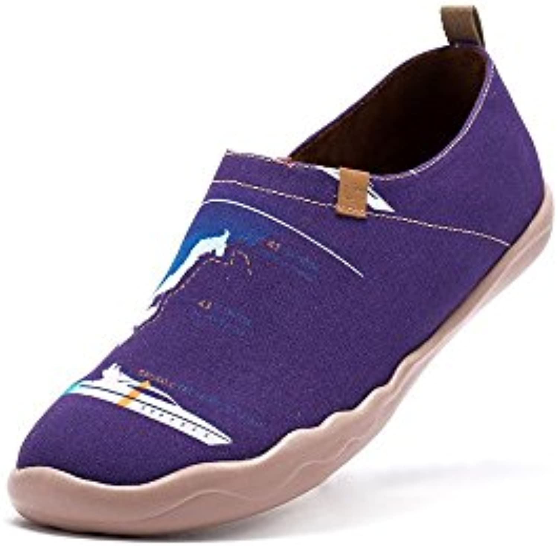 UIN Yate Zapato de lona impresa morado para los hombres