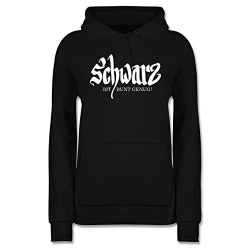 Shirtracer Nerds & Geeks - Schwarz ist bunt genug - M - Schwarz - JH001F - Damen Hoodie