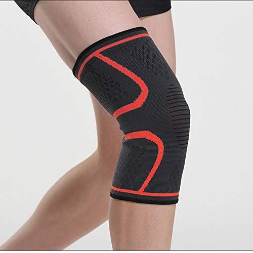 CHZDYDJD Kinesiology Tape 1 Stück Nylon Elastische Sport Knieschützer Atmungsaktive Kniestütze Laufen Fitness Wandern Radfahren Knieschützer M Rot