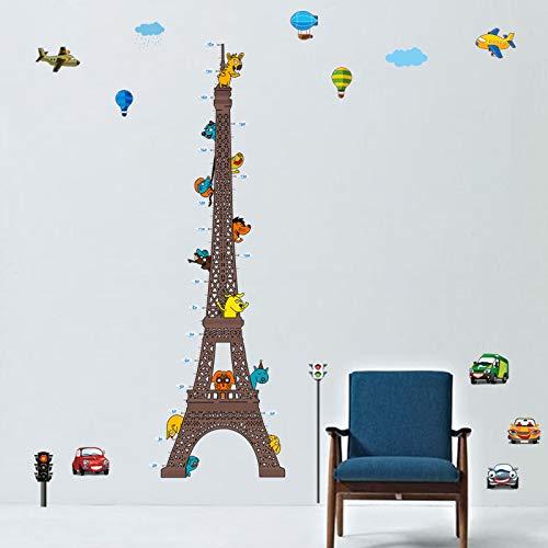 Stickers adhésifs Toise | Sticker Autocollant Toir Eiffel - Décoration murale chambre enfants | 160 x 60 cm