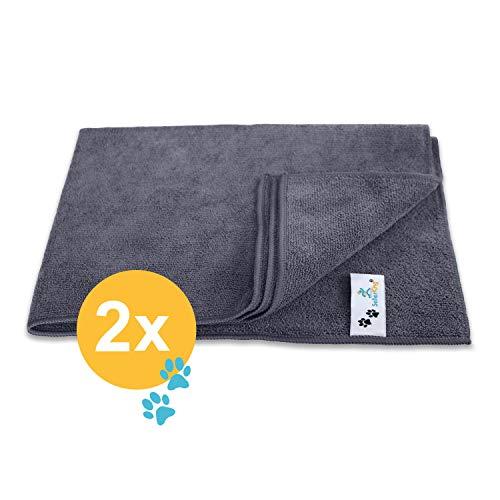 SellerKing® 2 Microfasertücher. Handtuch Hund Katze. Hunde Handtuch Mikrofasertuch Reinigung Trocknung Pflege