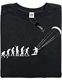 Mans Evolution T-Shirt® EVO Mens Ape to Kite Surfer brand new original kitesurfing gift present