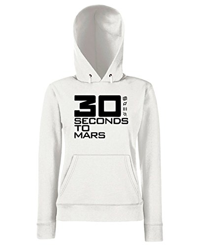 T-Shirtshock - Felpa Donna Cappuccio FUN0321 30 seconds to mars band vinyl decal stickers 10302, Taglia L