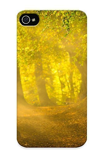 [0285aae2382]premium Phone Case For Iphone 4S/ Early Autumn Morning pc hard Case Cover(best Gift Choice)