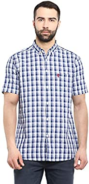 Red Tape Men's Checkered Regular fit Casual S