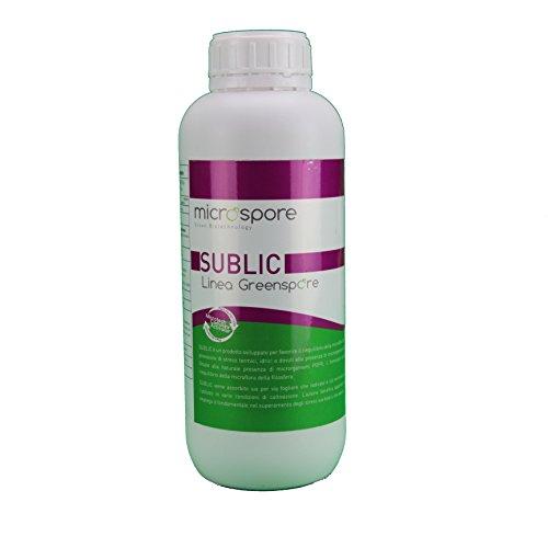 Sublic 250ml Fungicida Biologico contro peronospora oidio (mal bianco) e prevenzione alla ruggine