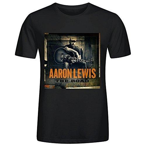 Gerlernt Aaron Lewis The Road Mens T Shirts Design Crew Neck
