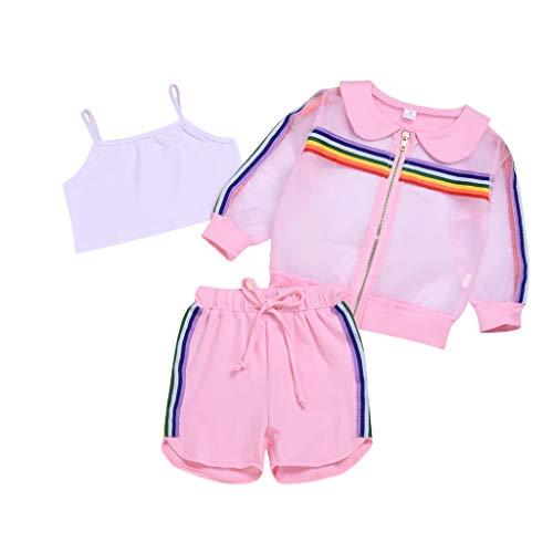 Yanhoo-Kinder Tutu Kleid Prinzessin Kleider Babybekleidung Partykleid Mädchen Karikatur Hase Tops Drucken Strampler ()