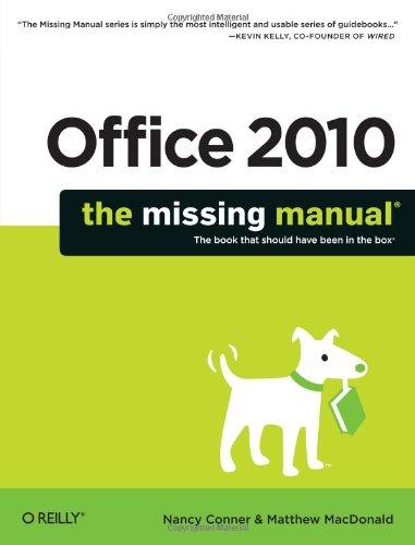 Preisvergleich Produktbild Office 2010: The Missing Manual