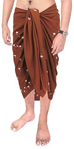 swimwear Strand tragen Mens Pareo Wickel Vertuschungen Badeanzug Handtuch Sarong Braun