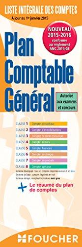 Plan comptable général 2015-2016 par Editions Foucher Foucher
