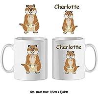 Texti-Cadeaux-Mug Marmotte-personnalisé avec un prénom exemple Charlotte