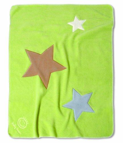 Baby Boum 100 x 150 cm Large Super Soft Appliqued Warm Polar Fleece Blanket (Lime Green)