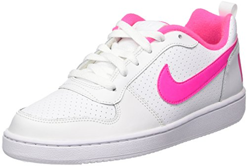 Nike Court Borough Low (GS), Scarpe da Basket Donna, Bianco (White/Pink Blast 100), 38.5 EU