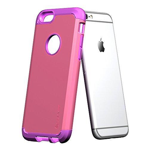 iPhone 6S/6étui, luvvitt® Ultra Armor Coque pour Apple iPhone 6(2014)/iPhone 6S (2015) [garantie à vie] Double Couche antichocs rigide avec pare-chocs | Best iPhone 6/6S Étui pour écran 11,9cm Violet/rose