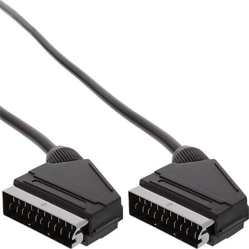 InLine 899722m schwarz Scart Kabel