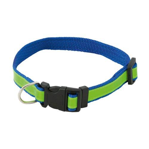 Hohe Sichtbarkeit Sicherheit Hundehalsband - fluoreszierende reflektierende verstellbare Kragen (blau) -