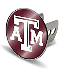 NCAA Texas A&M Aggies Laser Cut Metal Hitch Cover, Large, Silver by Rico