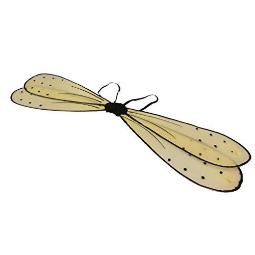 MagiDeal Glitzer Libelle Flügel - Feen Kostüm - Metall Flügel Kostüm