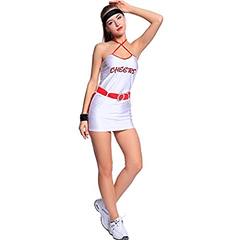 robe debardeur basket base-ball Foot Pom pom girl cheer leaders femme fille deguisement costume tenue fete soiree taille unique