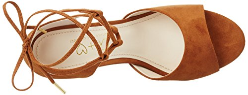 Another Pair of Shoes Siennae1, Sandales Bout Ouvert Femme Marron (Mid Brown21)