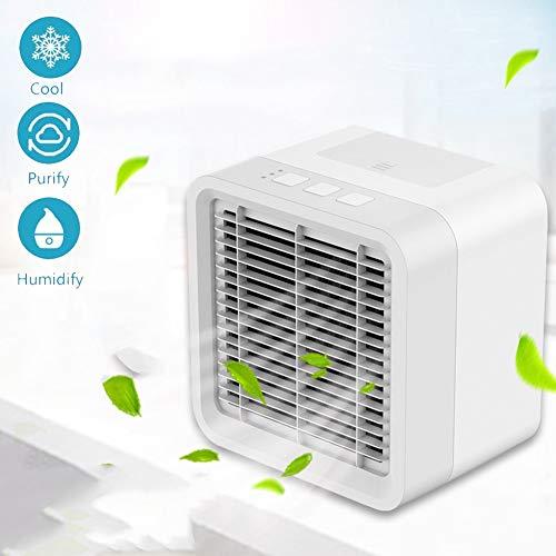 AINGOL Persönlicher Weltraum-Luftkühler, tragbare Mini-Klimaanlage, USB-angetriebener Desktop-Verdunstungs-Luftbefeuchter und Luftreiniger mit 3 Geschwindigkeiten für schnelles, kühles Home Office (Desktop Cpu-billig)